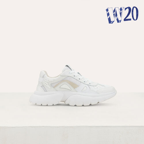 W20 Urban leather sneakers : Urban color White
