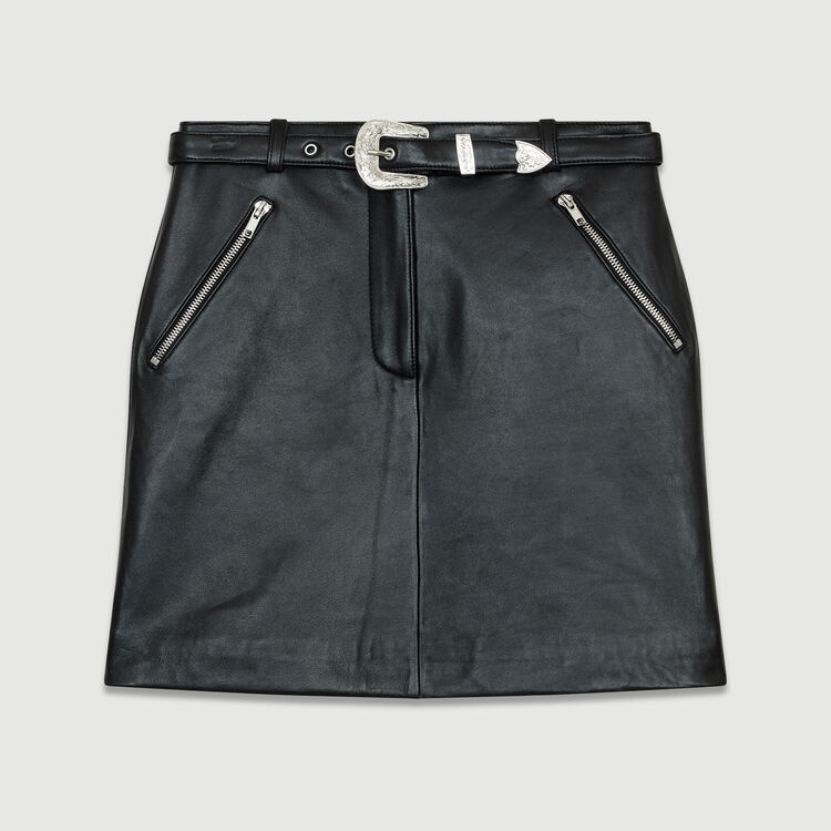 Short leather skirt : New Collection color Black 210