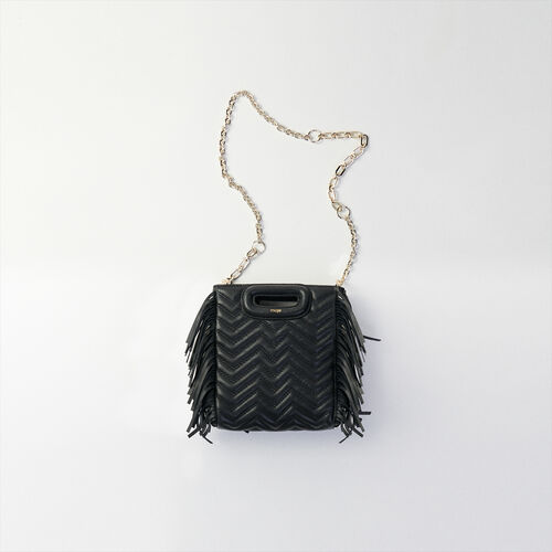 Mini quilted leather M bag : M Mini color Black