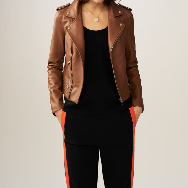 Perfecto leather jacket : Jackets color Camel