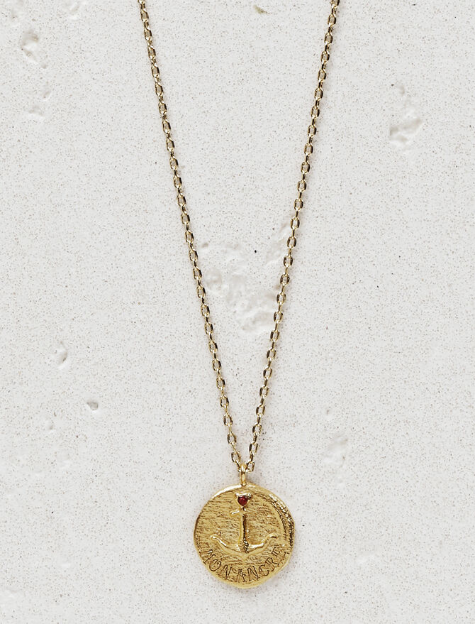 "Necklace with medallion ""Mon ancre"" -  - MAJE"