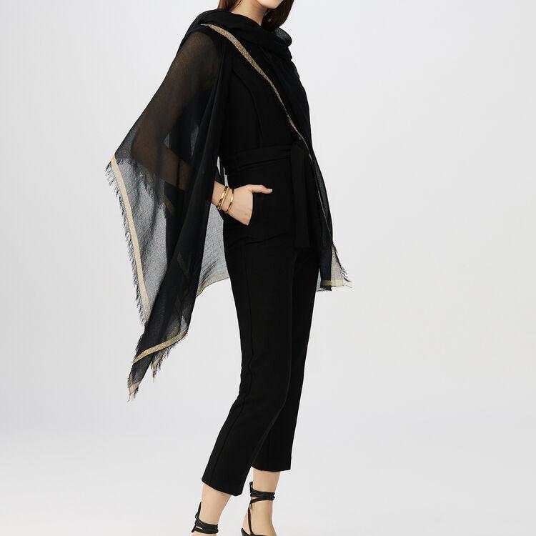 sleeveless Jumpsuit : Trousers color Black 210