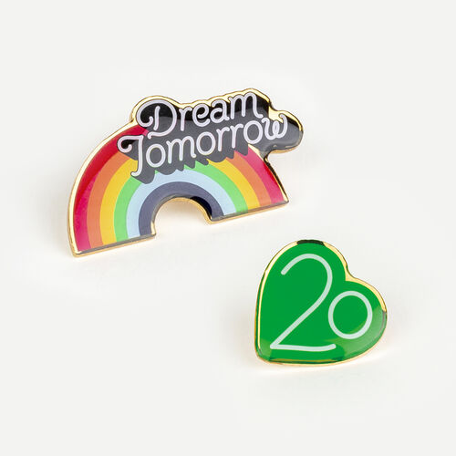 Pin Badges X 20 years : Gadgets color Multico