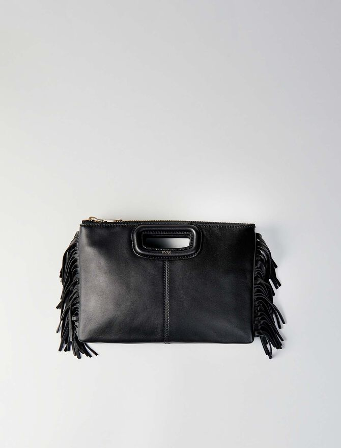Leather M Duo purse -  - MAJE