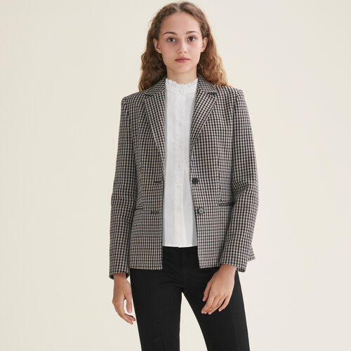 Fitted tailored jacket : Blazers color Jacquard