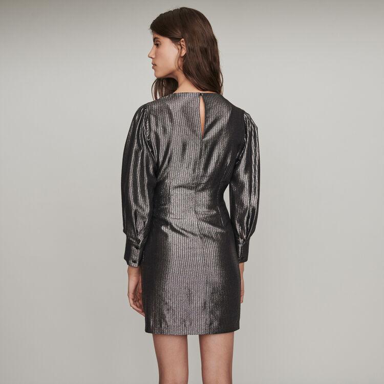 Yoke dress in Lurex : Dresses color Silver