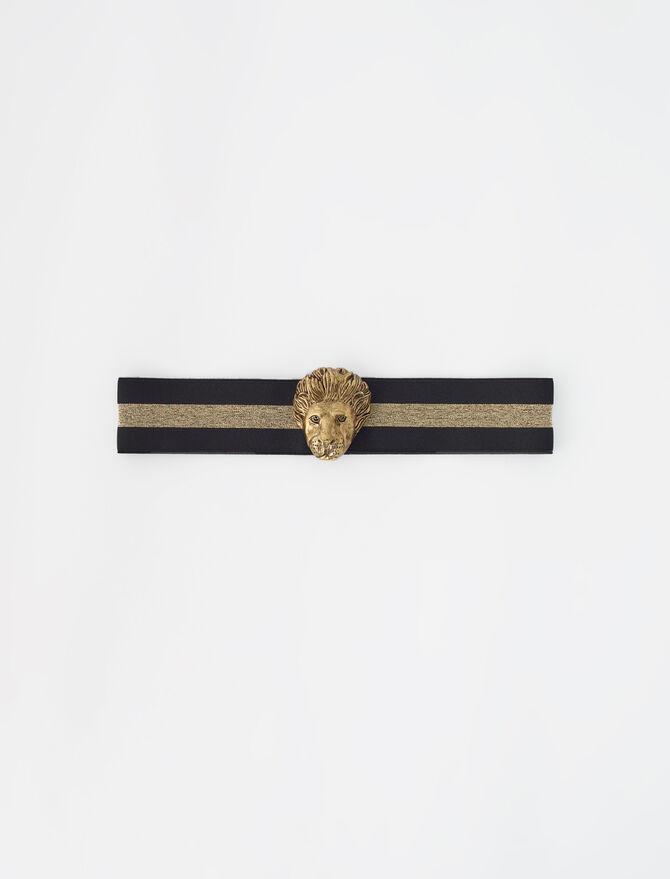Elasticated belt with gold-tone details - Gift finder - MAJE
