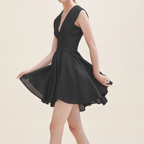 Sleeveless skater dress : Dresses color Black 210