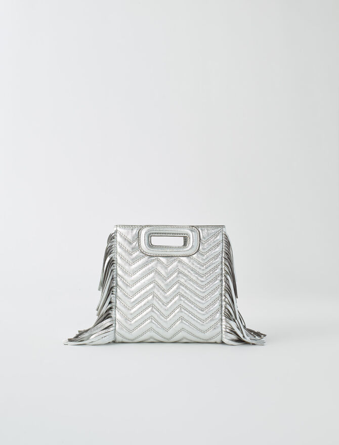 Mini silver quilted leather M bag - M bags - MAJE