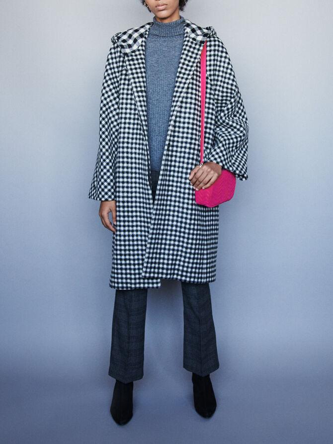 Wool plaid coat - SoldesFR_Manteaux_blousons - MAJE