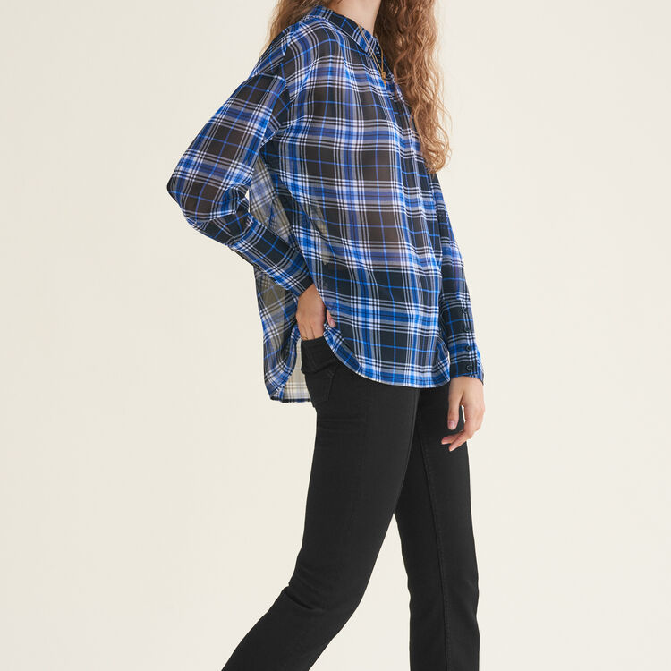 Loose checked top : Tops color PRINTED