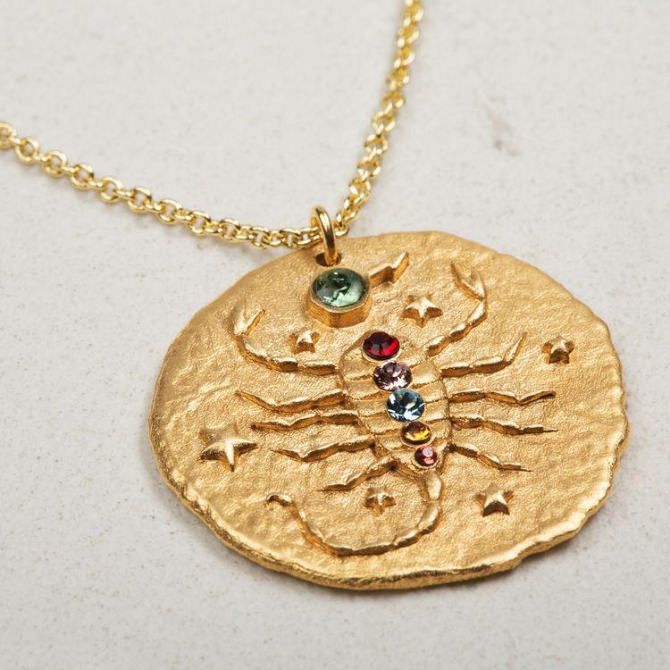 Preferred SCORPION Scorpio zodiac sign necklace - Jewelry - Maje.com YJ86