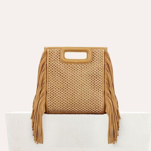 Fringed bag : M bags color NATUREL