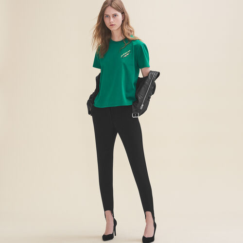 Embroidered T-shirt Thursday : Sale color GREEN