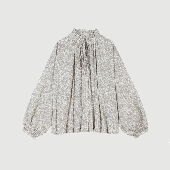 Floral-print cotton shirt - staff private sale 20 - MAJE