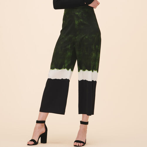 Wide tie-dye print trousers : Trousers & Jeans color Print