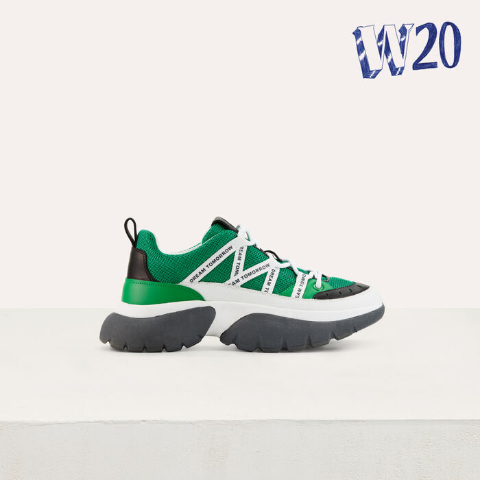 W20 Urban sneakers in nylon : Sneakers color Green