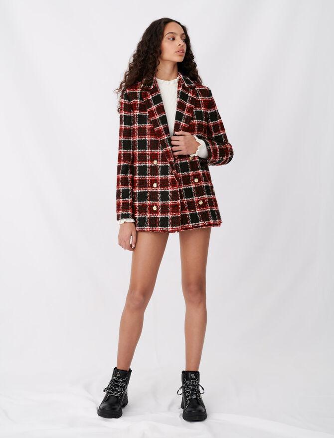 Tweed-style checked jacket - Blazers - MAJE