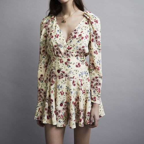 Silk printed playsuit : Skirts & Shorts color PRINTED