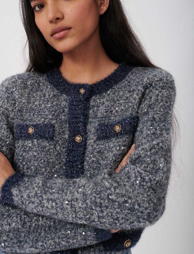 CARDIGAN WITH LUREX THREADS - Knitwear - MAJE