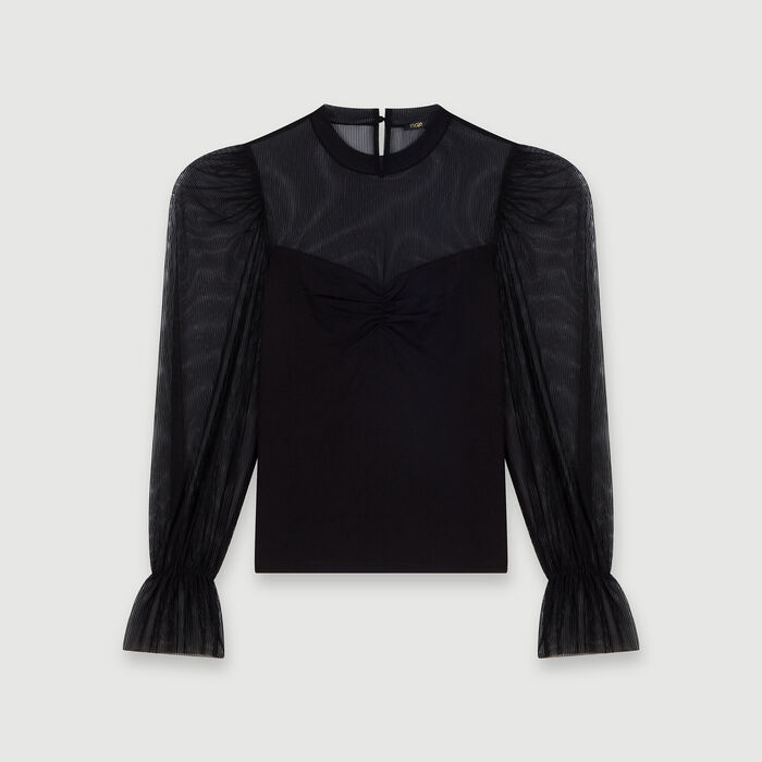 Tee-shirt trompe-l'œil : Tops & Shirts color Black