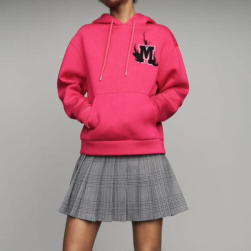 Oversize hooded sweatshirt : Ready to wear color Fuschia