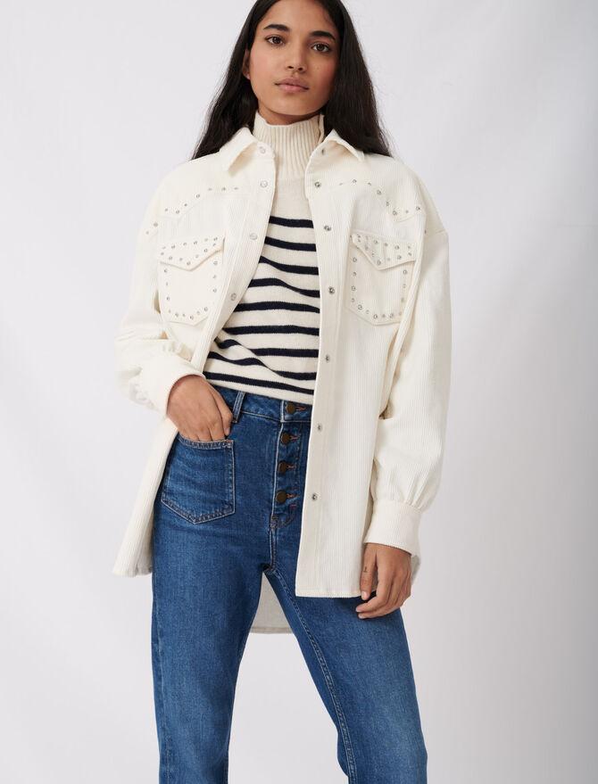 Jeans with pockets -  - MAJE