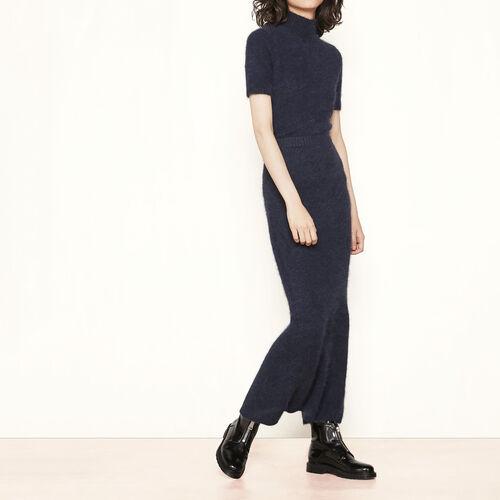 Long angora skirt : Skirts & Shorts color Navy