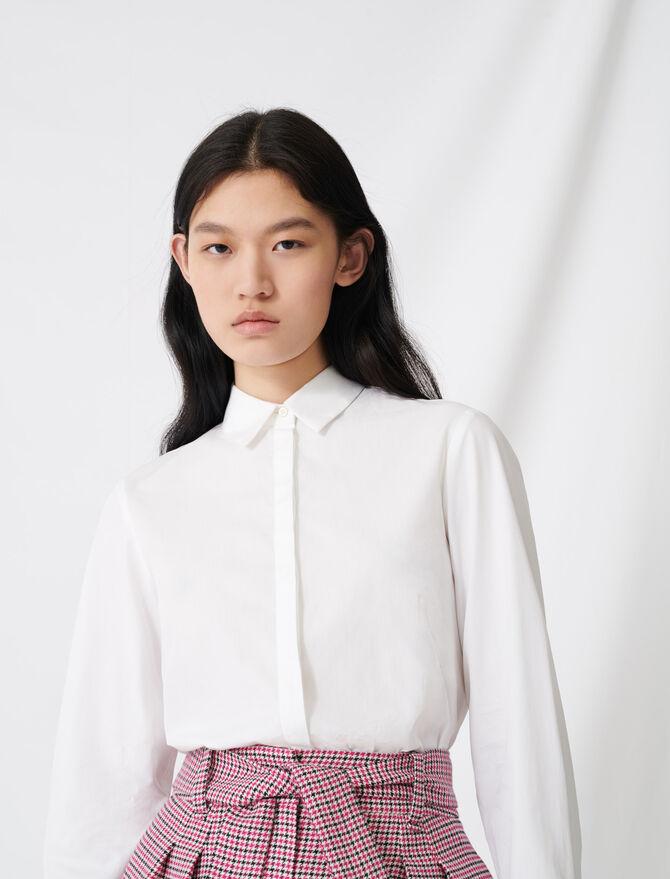 White poplin shirt -  - MAJE