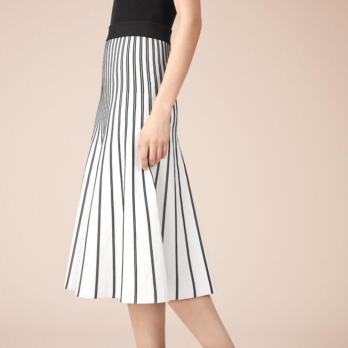Striped knit midi skirt - Skirts & Shorts - MAJE