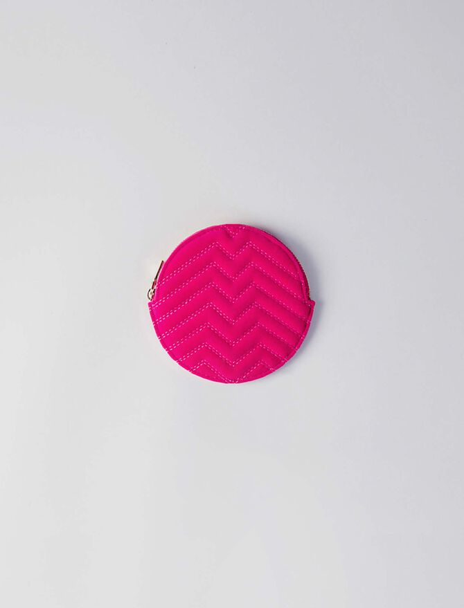 Round quilted velvet coin purse - Small leather goods - MAJE