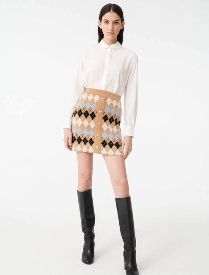 Loose shirt with a Peter Pan collar - Tops & Shirts - MAJE