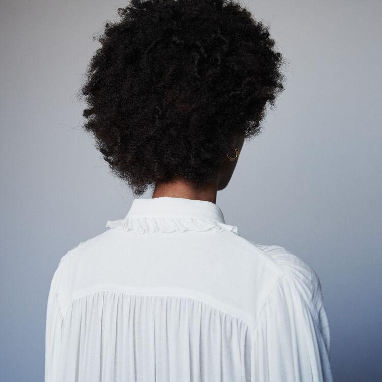 Ruffled shirt : Tops & Shirts color Ecru