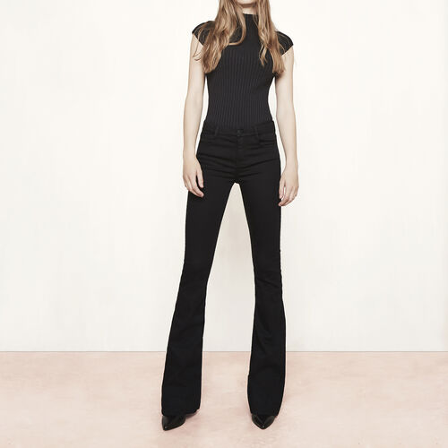 Flared jeans : Trousers & Jeans color Black 210