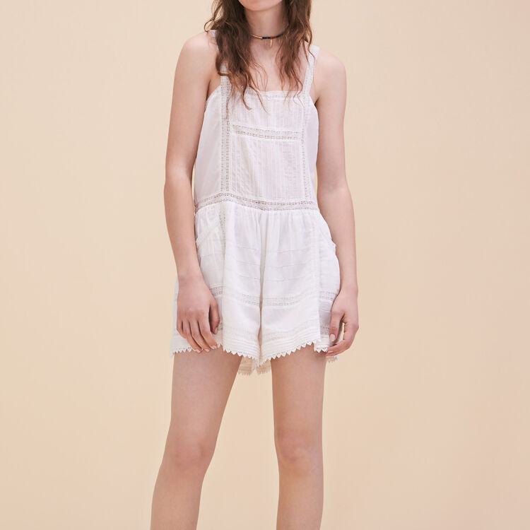 Lace playsuit : Skirts & Shorts color Ecru