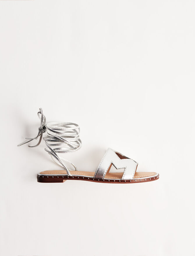 Leather tie sandals - New collection - MAJE