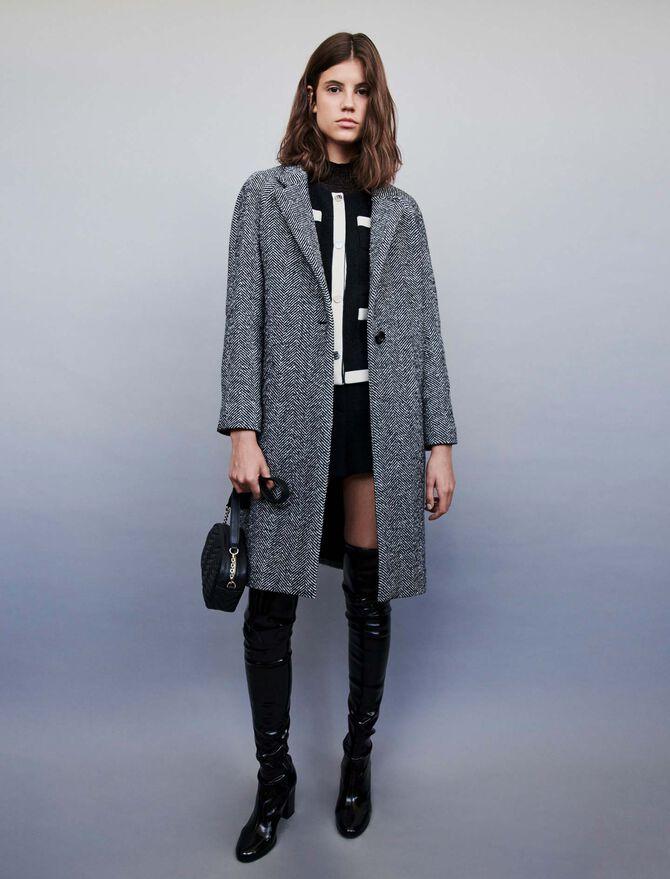 Chevron coat - SoldesFR_Manteaux_50 - MAJE