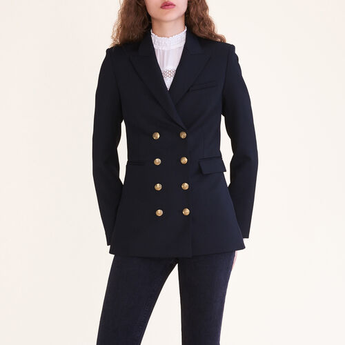 Eight-button double-breasted jacket - Blazers - MAJE
