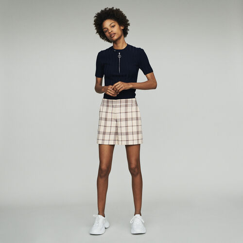 Plaid shorts : Skirts & Shorts color CARREAUX