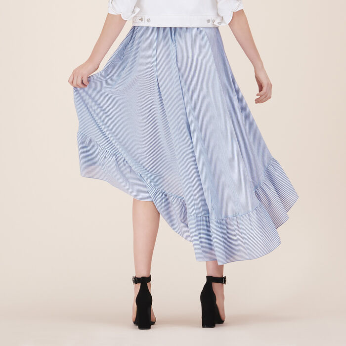 Long skirt with frills - FRILLED DETAILING - MAJE