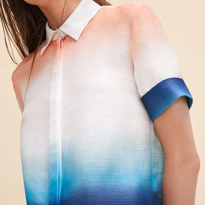 Tie-dye print shirt -  - MAJE