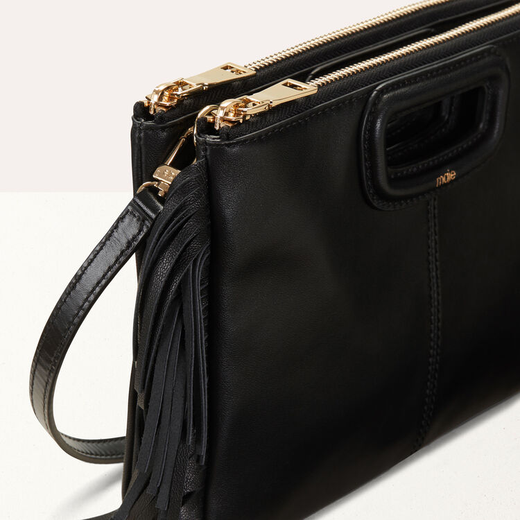 M Duo clutch in leather : Leather color Black 210