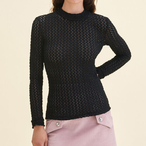 Top with a mixture of embroidery - Tops - MAJE