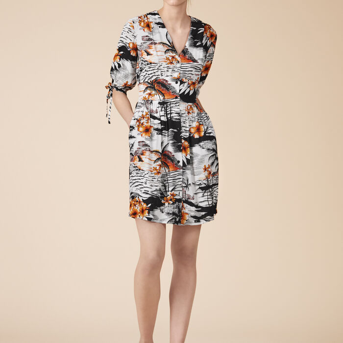 Floaty printed dress -  - MAJE