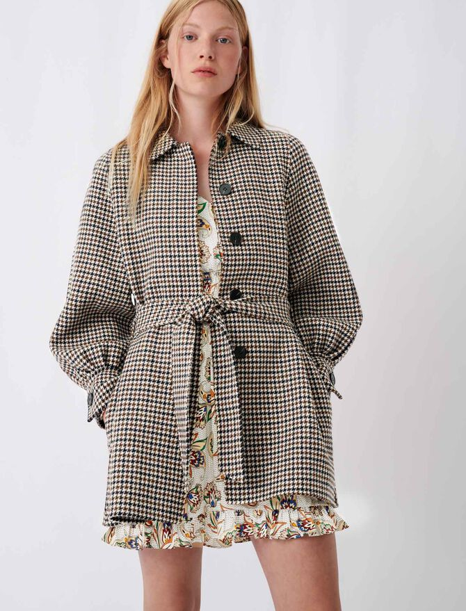 Checked double face coat - Best of the season - MAJE