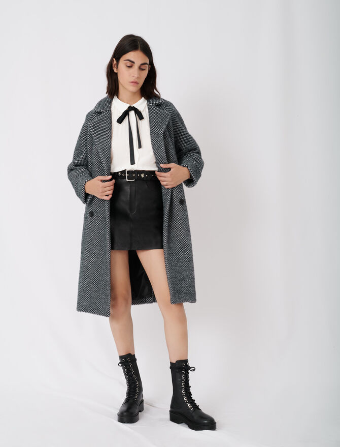 Checked tricotine coat - New collection - MAJE