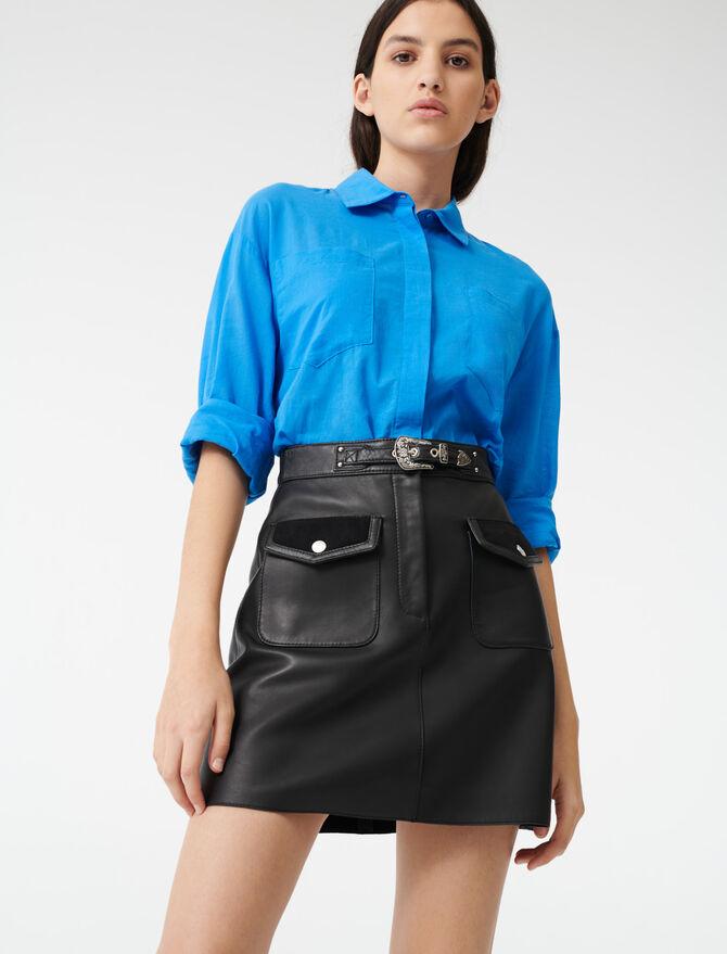 Leather Western skirt -  - MAJE