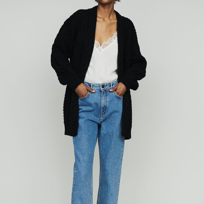Oversize cardian in twisted mesh knit - See all - MAJE
