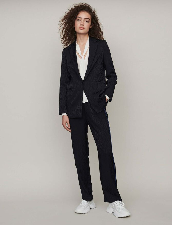 Loose-fit satin jacquard jacket - Blazers - MAJE