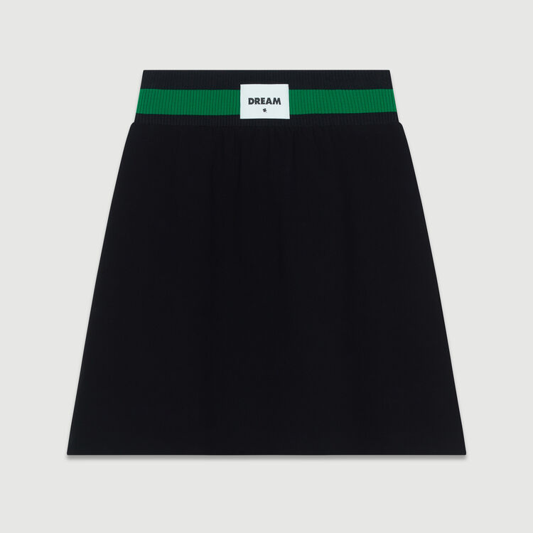 Short crepe skirt : Skirts & Shorts color Black 210